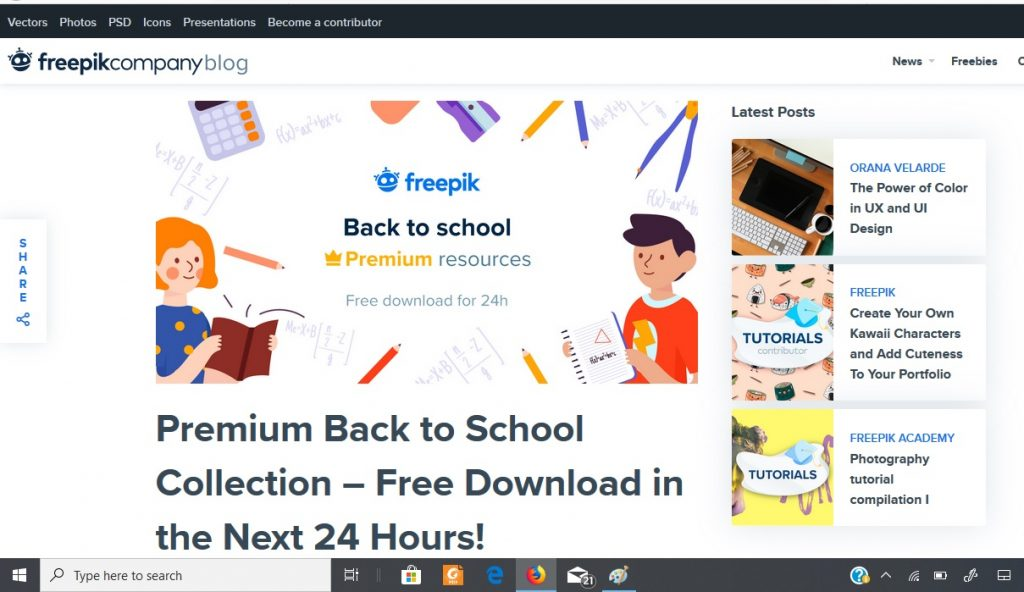 Tampilan file Freebies Freepik