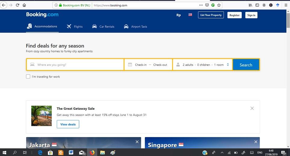 website travel booking.com