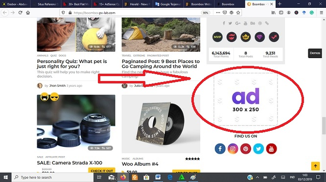 template wordpress adsense