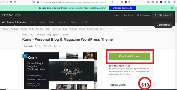 download tema wordpress