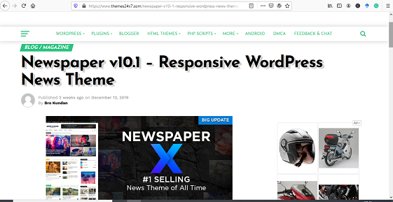download tema WP NewspaperX