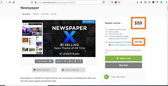 Download Tema WP Nespaper Themefores