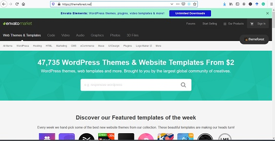 template wordpress premium