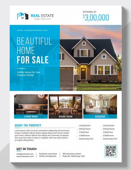 contoh desain brosur perumahan