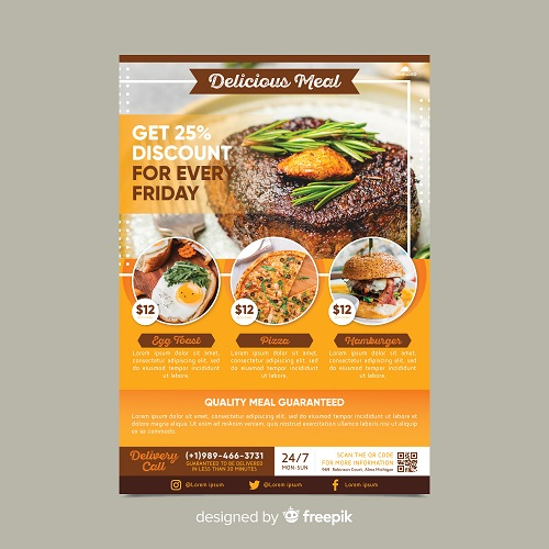 contoh desain brosur restoran