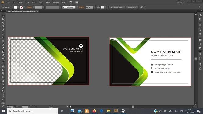 cara membuat desain kartu nama 4