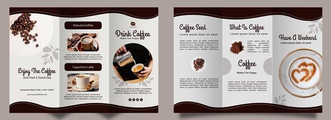contoh desain brosur coffee shop
