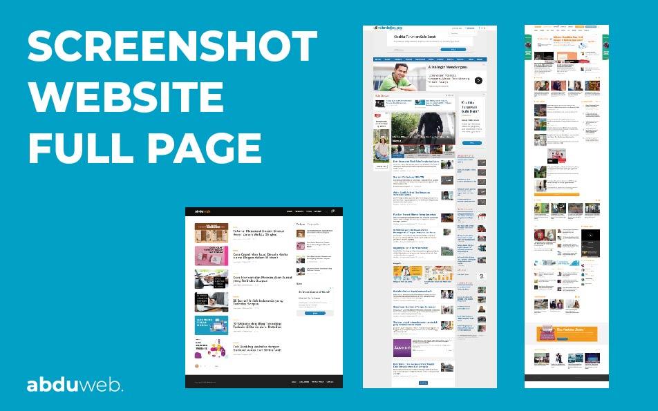 screenshot website satu halaman penuh