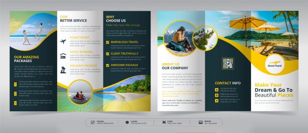 contoh desain brosur travel