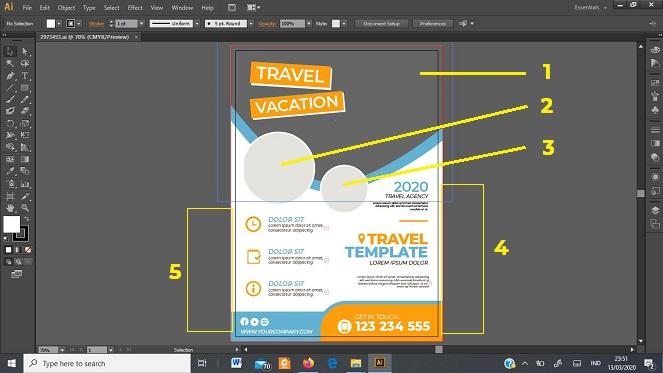 tutorial desain brosur