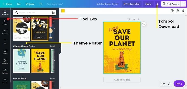 Desain poster online Cava Edit