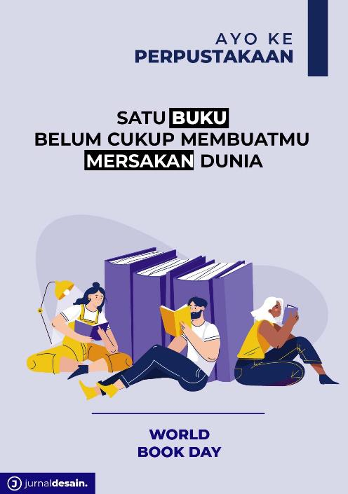 desain poster baca buku