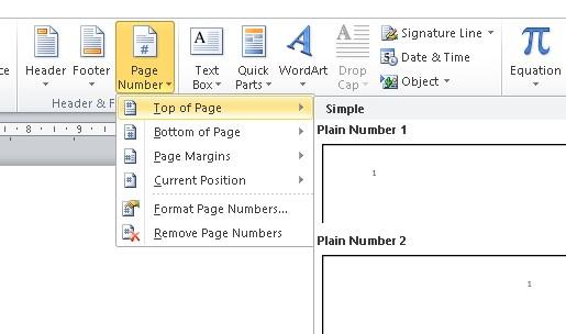 cara memberikan halaman pada word