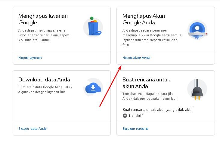 cara hapus akun gmail permanen di hp