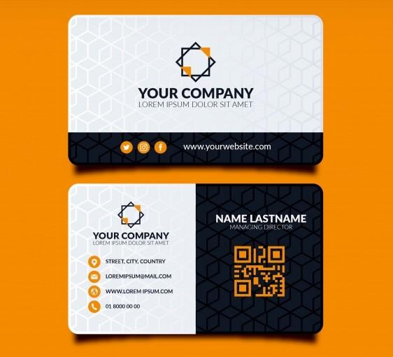 contoh desain kartu nama