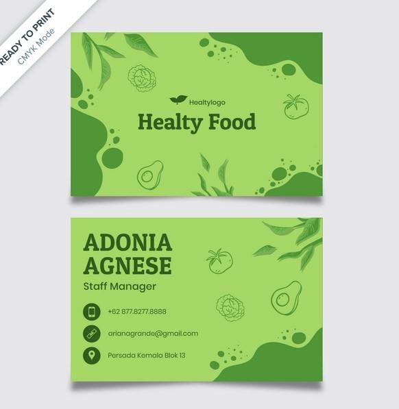 contoh desain kartu nama kuliner