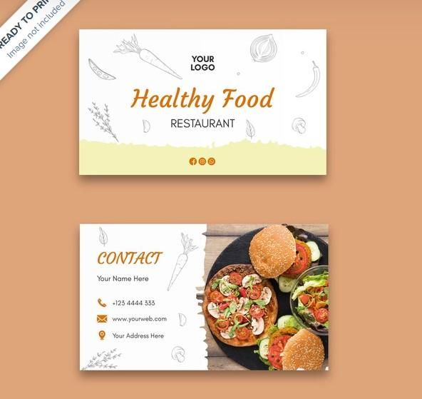 background desain kartu nama kuliner