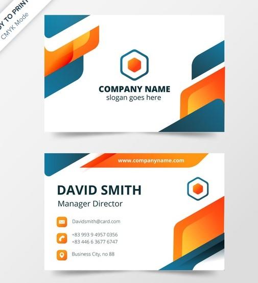contoh desain kartu nama modern