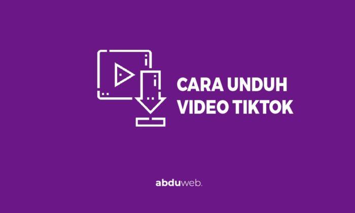 cara menyimpan video tiktok ke galeri