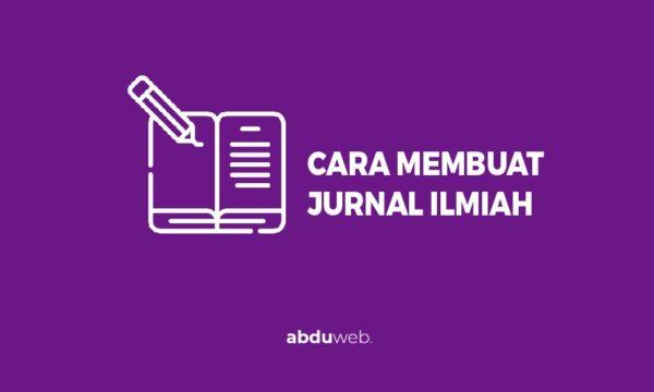 cara membuat jurnal