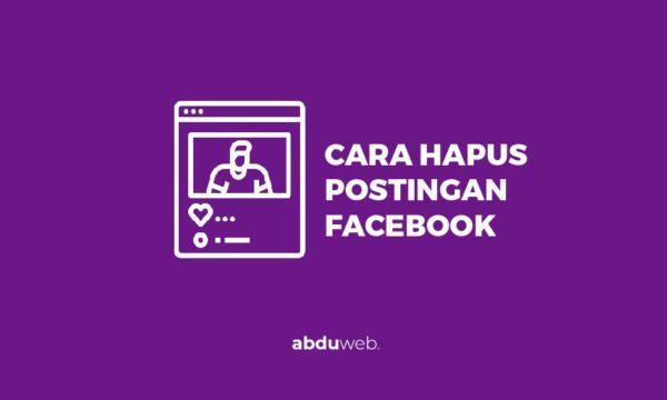 cara menghapus postingan di facebook
