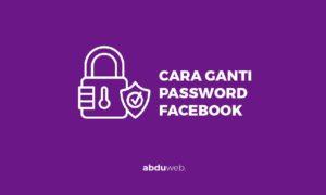 cara ganti password facebook