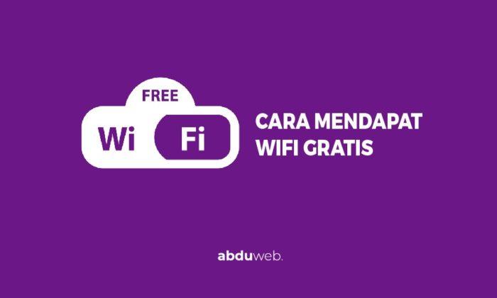 cara mendapat wifi gratis