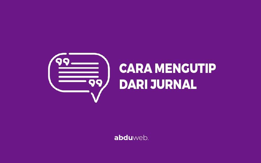 cara mengutip Jurnal