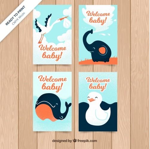 desain kartu ucapan selamat bayi lahir
